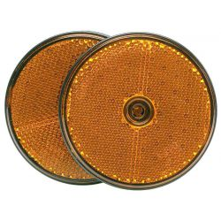 Reflector oranje 70mm 2st