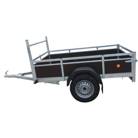 Aanhangwagen budget 2.00x1.30 m enkel as