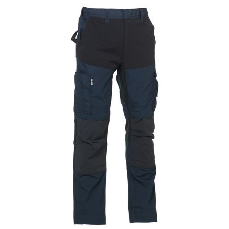 broek Hector marineblauw/zwart stretch