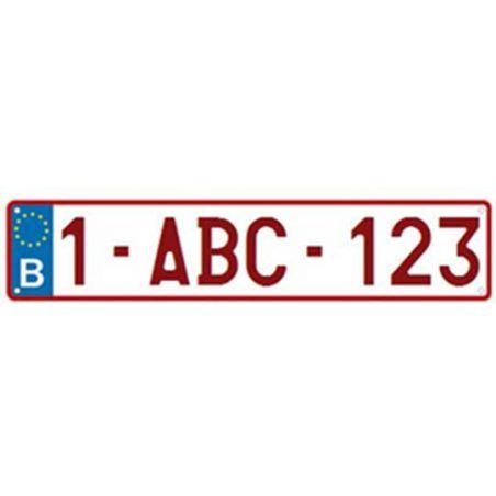 Belgische nummerplaat