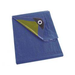 Dekzeil 2 x 3 m blauw / khaki