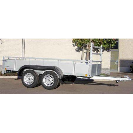 Aanhangwagen alu 2.57x1.32m  dubbel as