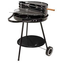 Barbecue rond op wielen 43 cm