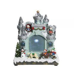 Kerstdorp kasteel projector...