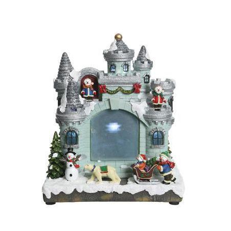Kerstdorp kasteel projector 3 x AA