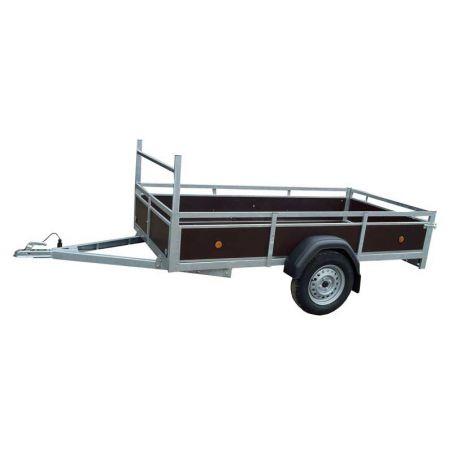 Aanhangwagen budget 2.57x1.30 m enkel as