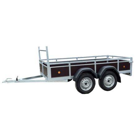 Aanhangwagen budget 2.57x1.30 m dubbel as