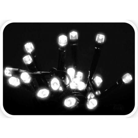 KERSTVERLICHTING 120 LED KOEL WIT MET CONTROLLER 8 FUNCTIES