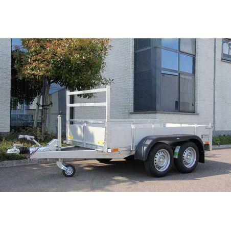Aanhangwagen geremd alu 2.57 x 1.32 m  dubbel as 2000kg