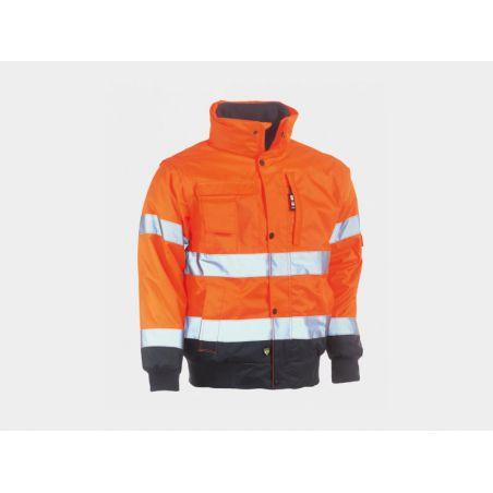 Vest Tarvos high visibility oranje/navy HEROCK