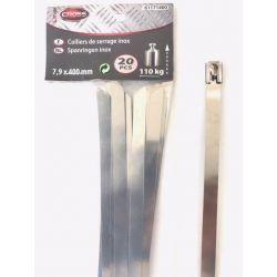 Spanringen inox 20 st 400 mm