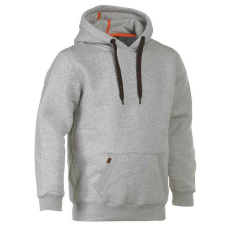 Sweater met kap HESUS chiné grijs