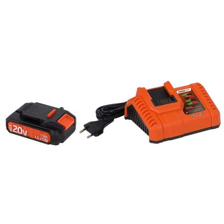 Lader 20V/40V + batterij 2.0AH 20V POWDP9062 Powerplus