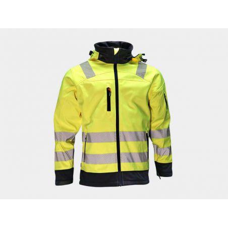 Softshell vest Gregor high visibility geel fluo/navy HEROCK