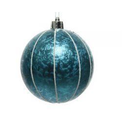 Kerstbal blauw met ijslak 8...