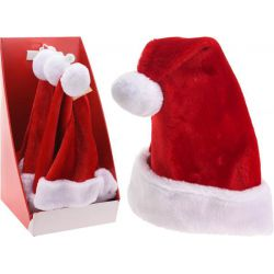 Kerstmuts pluche rood 40 cm