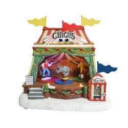 Scène de noël cirque 23 cm