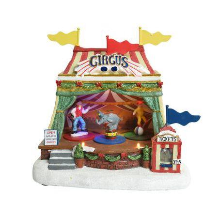 Kerstscene circus 23 cm