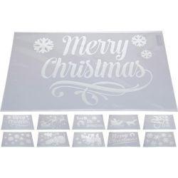 Kerstsjabloon  30 x 50 cm