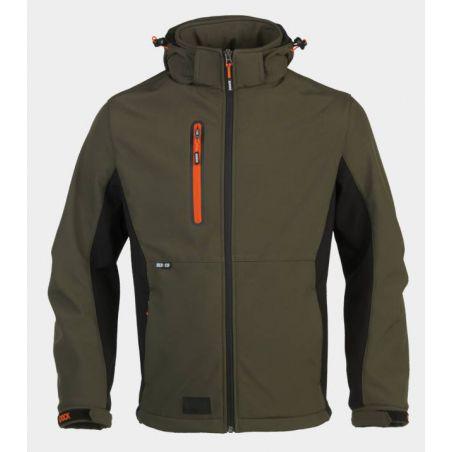 Trystan softshell vest khaki HEROCK