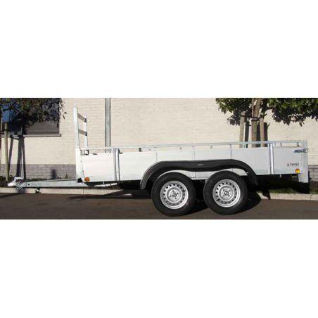 Aanhangwagen alu 3.07x1.57m  dubbel as