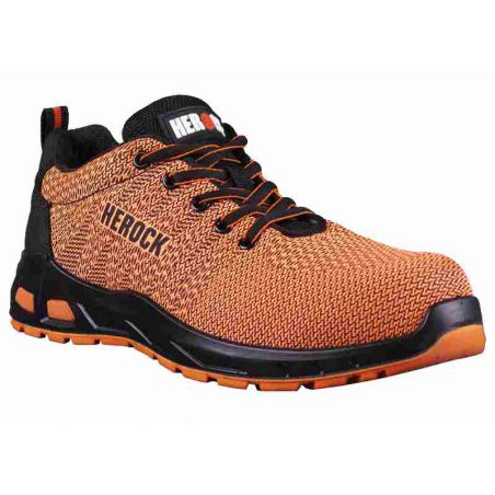 Veiligheidssneakers laag Titus oranje HEROCK