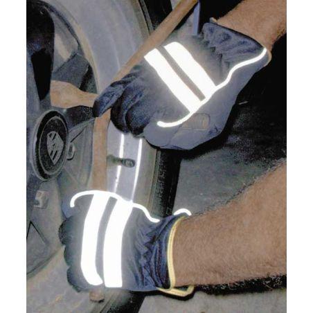werkhandschoenen met reflecterende band maat 11
