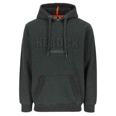 Sweater met kap HALI donker heather grijs HEROCK